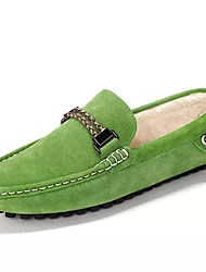 cheap -Men's Shoes Suede All Season Driving Shoes Loafers & Slip-Ons For Casual Blue Green Red Gray Black