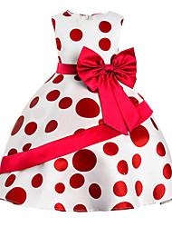 Robe Fille de Sortie Décontracté / Quotidien Couleur Pleine Points Polka Imprimé Coton Polyester Printemps, Août, Hiver, Eté Toutes les