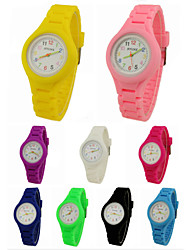 cheap -Children's Casual Watch Quartz Casual Watch Silicone Band Charm Black White Blue Red Green Pink Purple Yellow