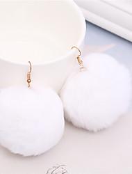 economico -Per donna Orecchini a goccia ORECCHINI Dolce Adorabile Pelliccia Palla Gioielli Per Feste Natale