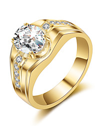 cheap -Men's Band Ring - Vintage, Elegant 8 / 9 / 10 Gold / Silver For Wedding / Party