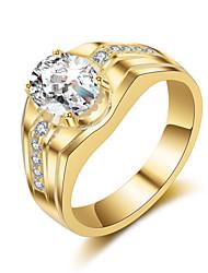 Homens Anéis Grossos Gema Vintage Elegant Titânio Formato Circular Jóias Para Casamento Festa