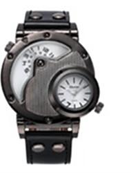 Недорогие -Муж. Кварцевый Наручные часы Календарь Термометр Фосфоресцирующий Компас Кожа Группа На каждый день Мода