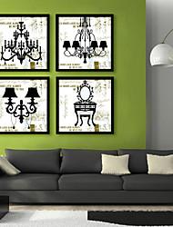 baratos -Vida Imóvel Vintage Ilustração Arte de Parede,PVC Material com frame For Decoração para casa Arte Emoldurada Sala de Estar Cozinha Sala