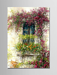Hand-Painted Landscape Vertical,Modern One Panel Canvas Oil Painting For Home Decoration