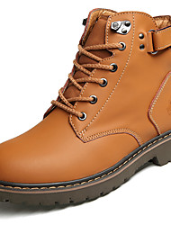 baratos -Homens sapatos Courino Primavera Outono Conforto Botas para Casual Preto Castanho Claro Castanho Escuro