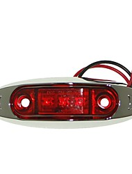 cheap -Sencart 1pc 3LED 2835SMD Red LED Clearance Side Marker Light Truck Car Van Trailers Lamp DC12V