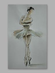 手描きの 人物 縦式,近代の 1枚 キャンバス ハング塗装油絵 For ホームデコレーション
