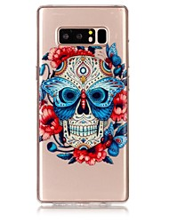 cheap -Case For Samsung Galaxy Note 8 Ultra-thin / Transparent / Embossed Back Cover Skull Soft TPU for Note 8