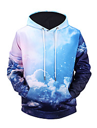 cheap -Men's Active Street chic Long Sleeves Hoodie - Color Block 3D Print Hooded