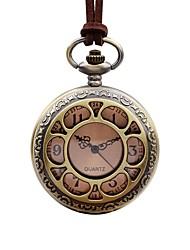baratos -Mulheres Relógio de Bolso Chinês Quartzo Mostrador Grande Couro Banda Elegant Marrom