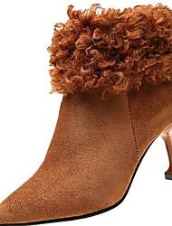 preiswerte -Damen Schuhe PU Winter Komfort Pumps High Heels Spitze Zehe für Büro & Karriere Schwarz Gelb Khaki