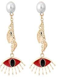 economico -Per donna Orecchini a goccia Perle finte Casual Dolce Lega Occhio di civetta Gioielli Per Appuntamento