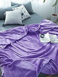 cheap -Super Soft,Yarn Dyed Solid Color Polyester Blankets