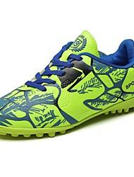 Para Meninos sapatos Couro Ecológico Primavera Outono Conforto Tênis Futebol Cadarço Para Atlético Casual Vermelho Verde Azul