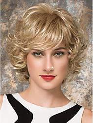жен. Человеческие волосы без парики Черный Medium Auburn клубничная блондинка/ светлая блондинка Средний Кудрявый вьющиеся Боковая часть