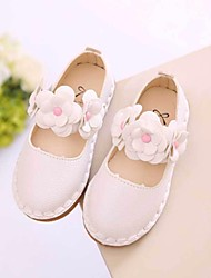 cheap -Girls' Shoes PU Spring Fall Flower Girl Shoes Flats for Casual White Red Pink