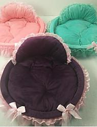 abordables -Gato Perro Camas Mascotas Colchonetas y Cojines Un Color Templado Portátil Plegable Morado Verde Rosa Para mascotas