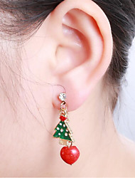 Women's Drop Earrings Rhinestone Metallic Lovely Fashion Alloy Irregular Jewelry For Party Christmas