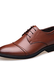 cheap -Men's Formal Shoes Microfiber Spring / Fall Business Oxfords Walking Shoes Black / Brown / Wedding / Party & Evening