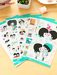 cheap -5 Pcs/Set Couple Diary Sticker Phone Sticker Scrapbook Stickers