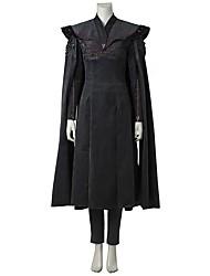 economico -Madre dei Draghi Cosplay Il Trono di Spade Un Pezzo Vestiti Costumi Cosplay Costume Cosplay da film Grigio e nero Abito Pantaloni Mantello