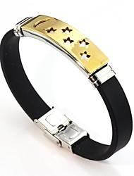 abordables -Homme Femme Cuir Adorable Etoile Bracelet Chaîne - Doux Or Argent Bracelet Pour Mariage Valentin