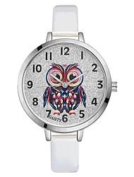 Недорогие -Жен. Наручные часы Китайский Кварцевый Крупный циферблат PU Группа На каждый день Цветной Elegant Черный Белый Синий Красный Коричневый