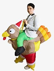 abordables -Vacances Costume de père noël père Noël Costume Gonflable Homme Femme Noël Carnaval Poisson d'avril Mascarade La Saint Valentin