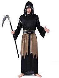 cheap -Costume Male Costume Black Vintage Cosplay Polyester Long Sleeves Bishop Briefs Christmas Dress