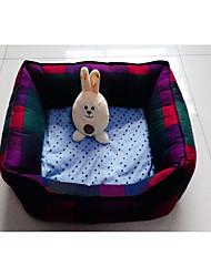 Недорогие -Кошка Собака Кровати Животные Коврики и подушки В клетку Компактность Складной Радужный Для домашних животных