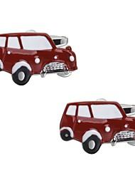 Недорогие -Автомобиль Черный Красный Запонки Медь Простой На каждый день Для вечеринок Официальные Муж. Бижутерия