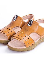 abordables -Garçon Chaussures Cuir Printemps / Automne Confort Sandales pour Noir / Jaune / Marron