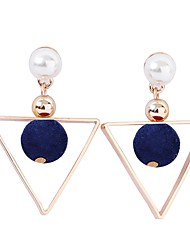 cheap -Women's Drop Earrings , Sweet Lovely Korean Fabric Alloy Triangle Ball Jewelry Evening Party Going out