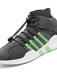 abordables -Homme Chaussures Gomme Printemps Automne Confort Basket Ruban pour Noir Gris Noir/blanc