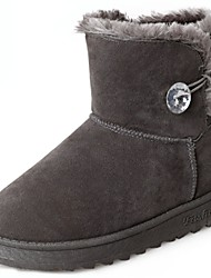 cheap -Women's Shoes Nubuck leather / Suede / PU(Polyurethane) Fall / Winter Comfort / Snow Boots Boots Flat Heel Round Toe Mid-Calf Boots Black