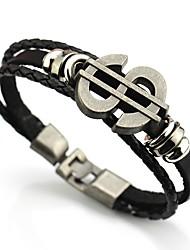 cheap -Men's Link Bracelet , Vintage Basic Leather Alloy Dollars Jewelry Daily Formal