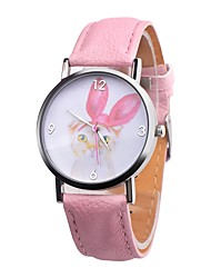 cheap -Women's Wrist Watch Chronograph Casual Watch Leather Band Analog Casual Fashion Elegant Black / White / Pink - Yellow Fuchsia Pink One Year Battery Life / Stainless Steel