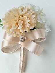 economico -Bouquet sposa Fiore all'occhiello Matrimonio Da sera Poliestere 8 cm ca. 10 cm ca.