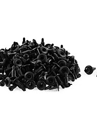cheap -100 Pcs 11mm x 5mm Black Plastic Rivet Bumper Lining Trim Panel Retainer Fastener Clips