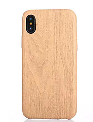 cheap -For iPhone X iPhone 8 iPhone 8 Plus iPhone 5 Case Case Cover Pattern Back Cover Case Wood Grain Soft TPU for iPhone X iPhone 8 Plus