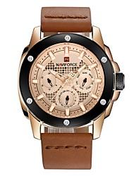 cheap -Men's Fashion Watch Dress Watch Wrist watch Swiss Quartz Calendar / date / day Chronograph Water Resistant / Water Proof Casual Watch