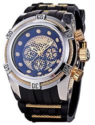 Недорогие -Муж. Кварцевый Спортивные часы Японский Календарь Секундомер Защита от влаги силиконовый Группа На каждый день Мода Cool Черный Синий