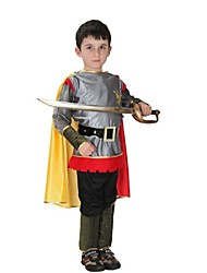 cheap -Athena Gladiator Ancient Rome Costume Children's Outfits Black+Sliver Vintage Cosplay Polyster Long Sleeves Lolita Briefs
