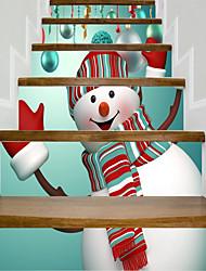 Недорогие -Рождество фантазия Наклейки Корпус Простые наклейки 3D наклейки Декоративные наклейки на стены Свадебные наклейки, Бумага Винил Украшение