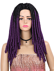 cheap -14inch 70g/pack Soft Dread Lock Synthetic Hair Extensions 15 Roots Kanekalon Low Temperature Fiber Curly Crochet Braids