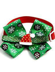 preiswerte -Katze Hund Halsbänder Krawatte/Fliege Tragbar Klappbar Einstellbare Flexible Schleife Lolita Sonstiges Material Grün