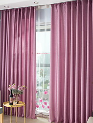 cheap -Grommet Top Double Pleat Pencil Pleat Curtain Modern Color Block Living Room Polyester Blend Material Blackout Curtains Drapes Home
