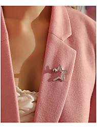 Недорогие -Жен. Броши , Классический Мода Сплав Звезда Бижутерия Назначение Повседневные Офис