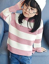 cheap -Girls' Striped Sweater & Cardigan,Acrylic Winter Long Sleeve Simple Purple